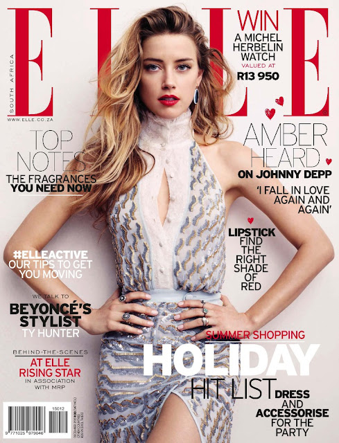 Actress, @ Amber Heard - Elle South Africa