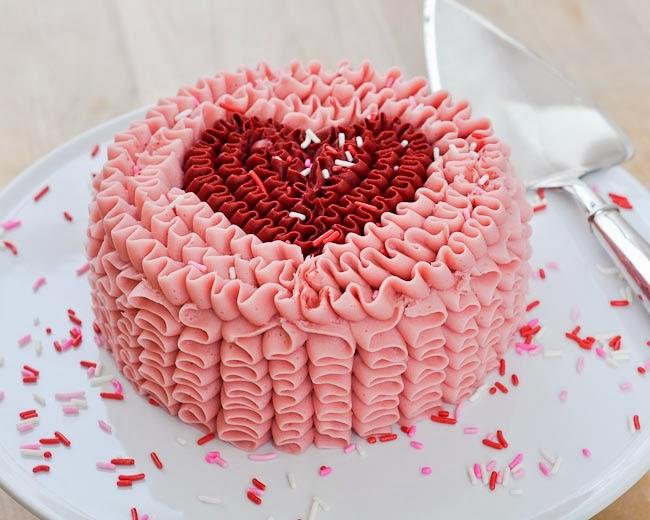 ruffle cake tutorial valentines day - Valentine Day Cake
