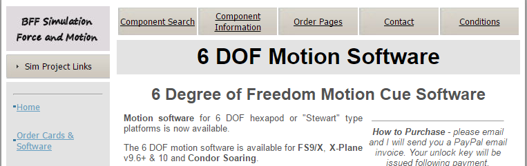Ian's 6DOF-Motion-Software