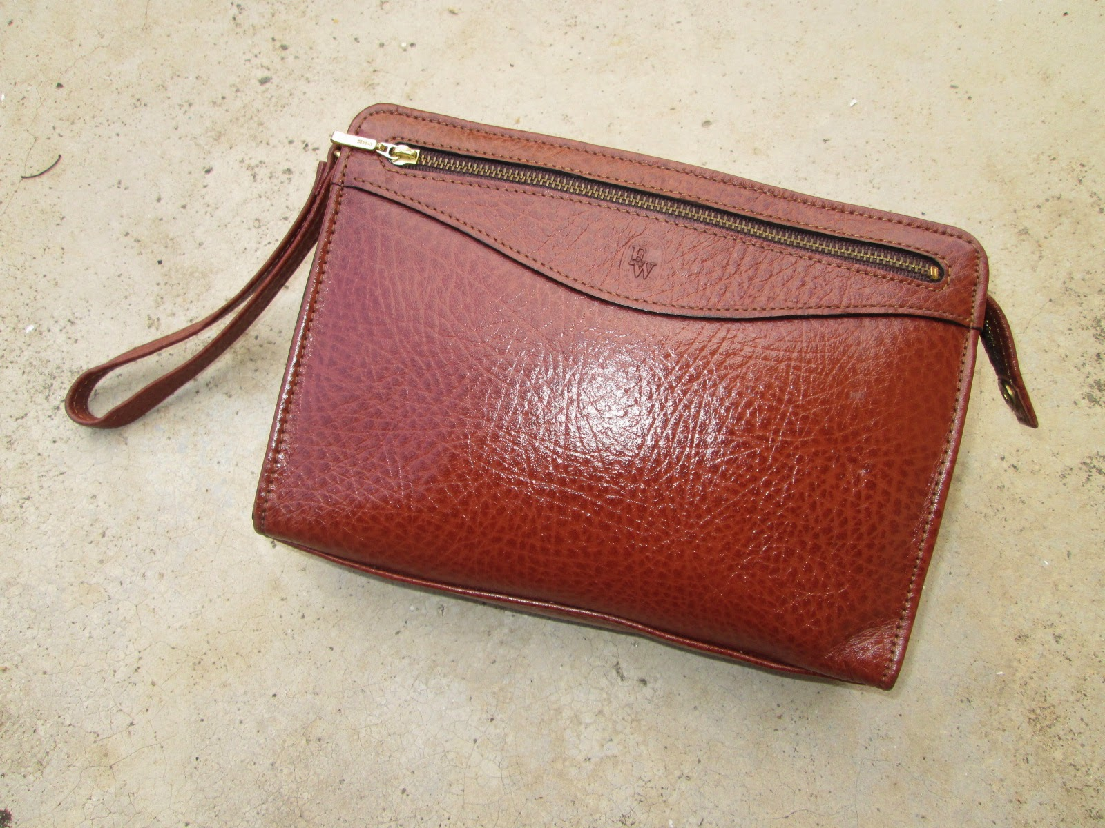 D0rayakeebag East Wood Leather Vtg Clutch Bag Sold