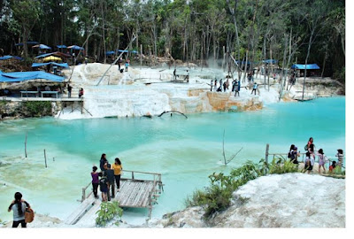 Tinggi Raja White Crater Tourist Places in North Sumatra