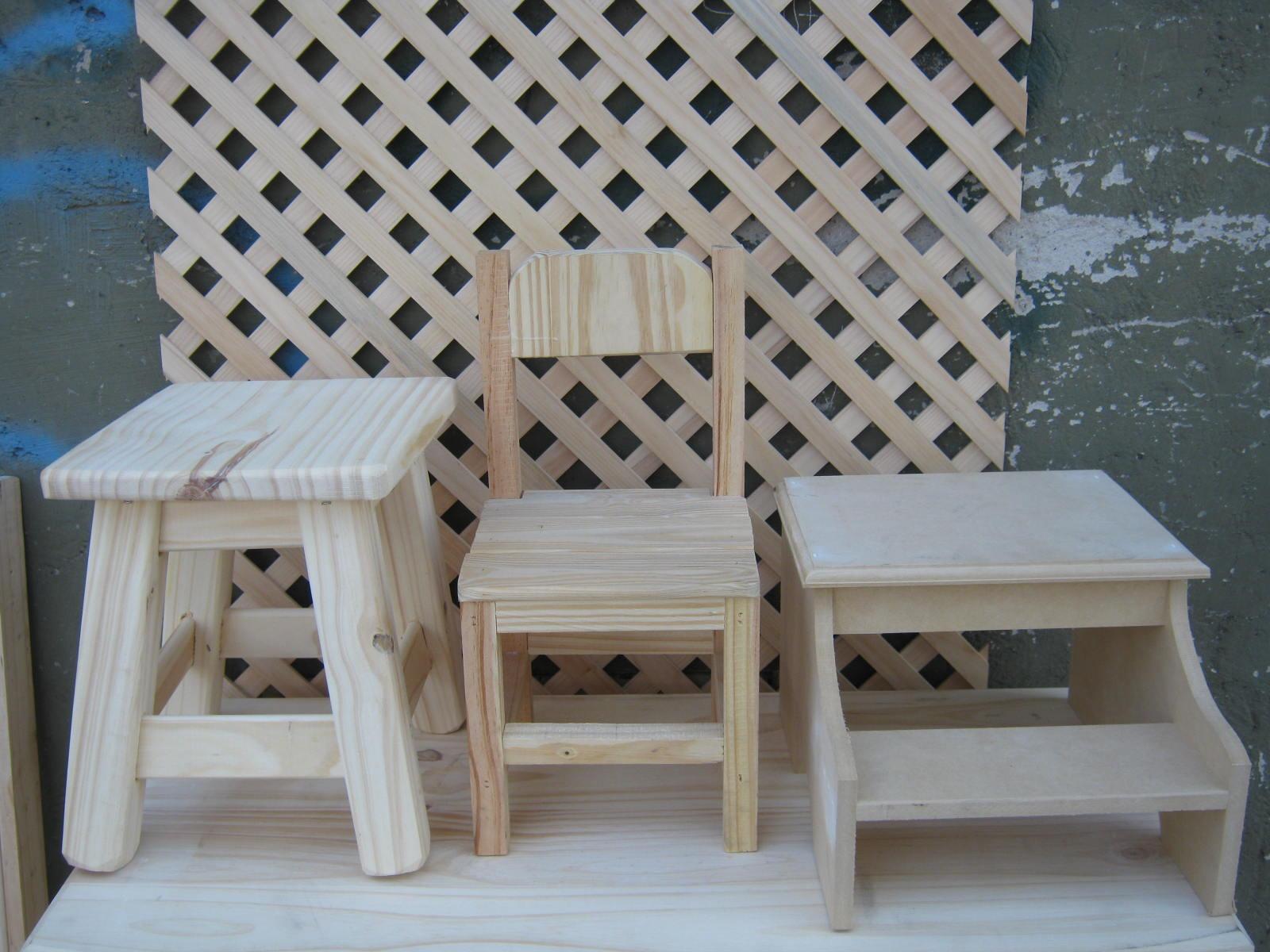 , modelos de bancos , sillas para chicosy escalerita , para chicos