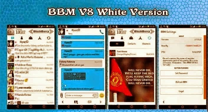 Download BBM Mod Android Themes Snow White V8 Version 2.7.021 Apk