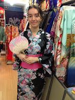 Kimono and Fan from Kimono House NY