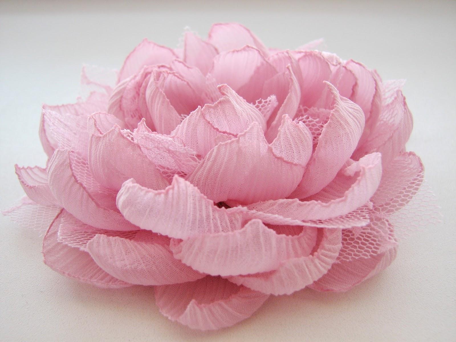 Как сделать цветок из кружева - Семиделухи 16