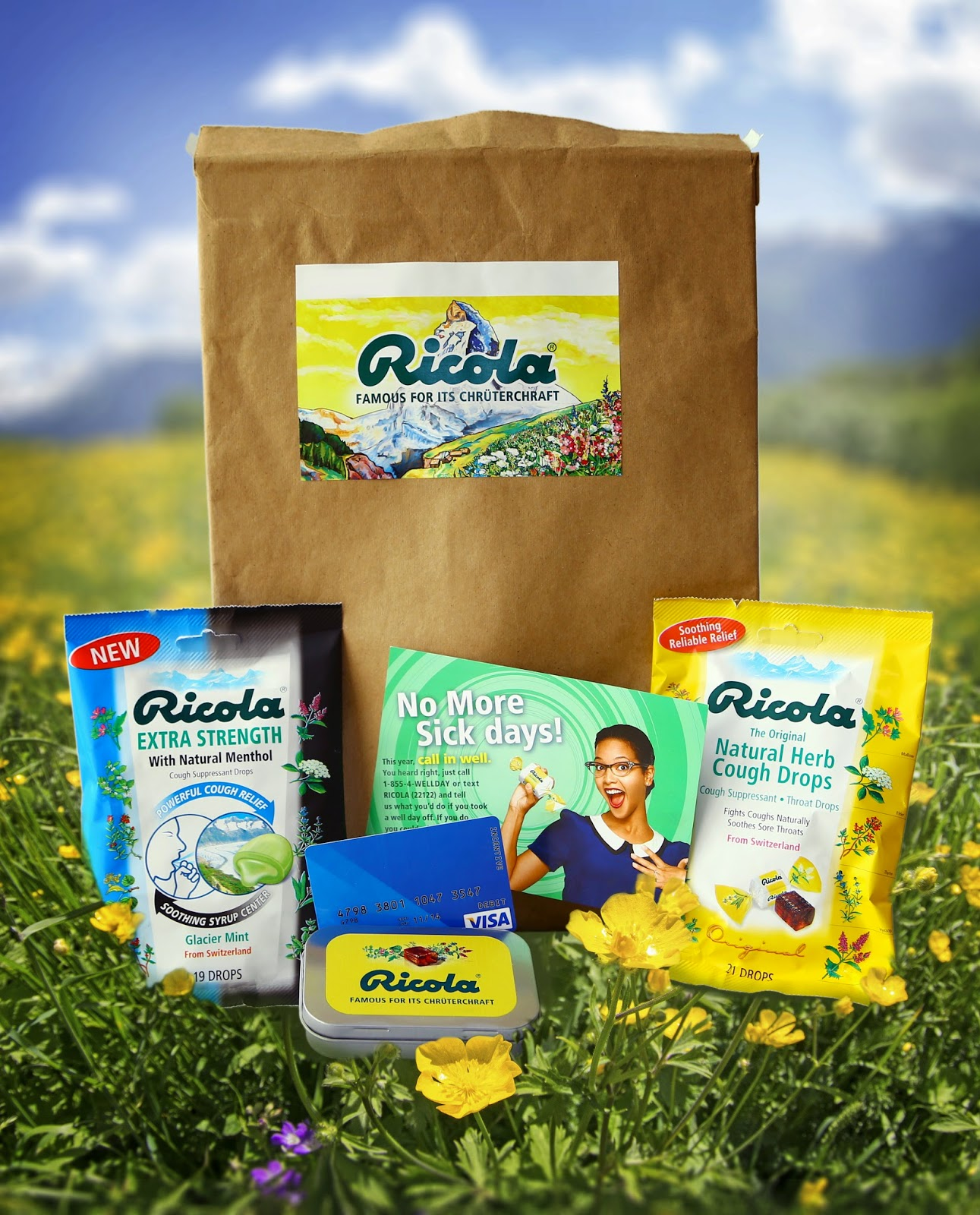 Ricola and Visa GC giveaway