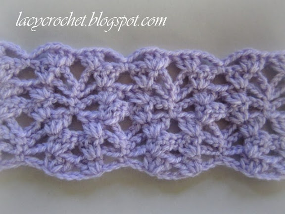 Lacy Crochet: Lacy Baby Blanket Tutorial, Step 5