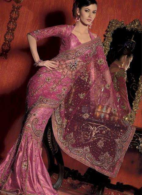 Women Stylish Designer Sarees 2012
