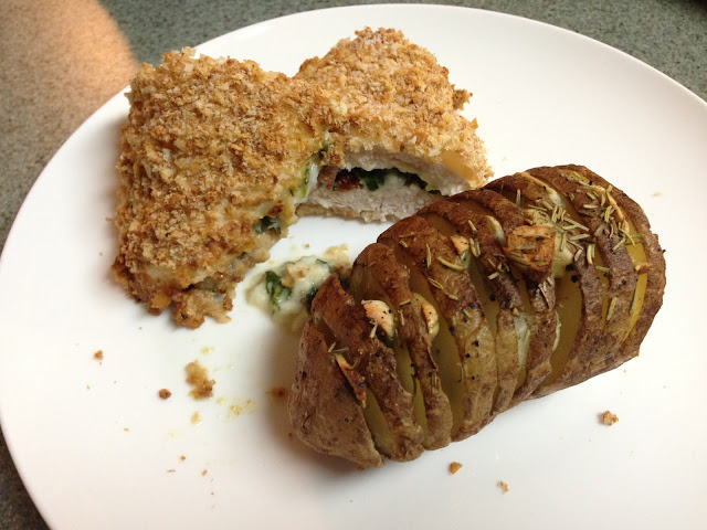 Violet Fields: Spinach and Feta-Stuffed Chicken Breast with Accordion ...
