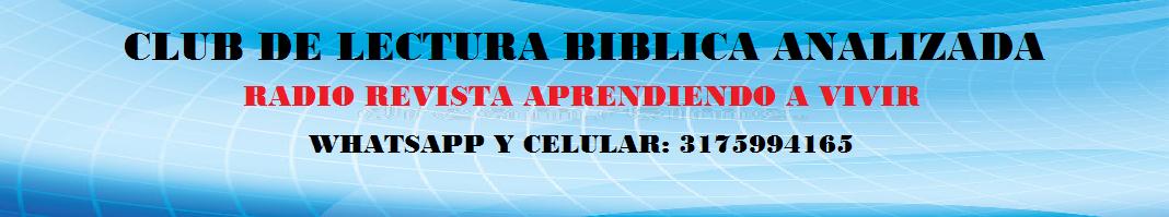 A. CLUB DE LECTURA BÍBLICA