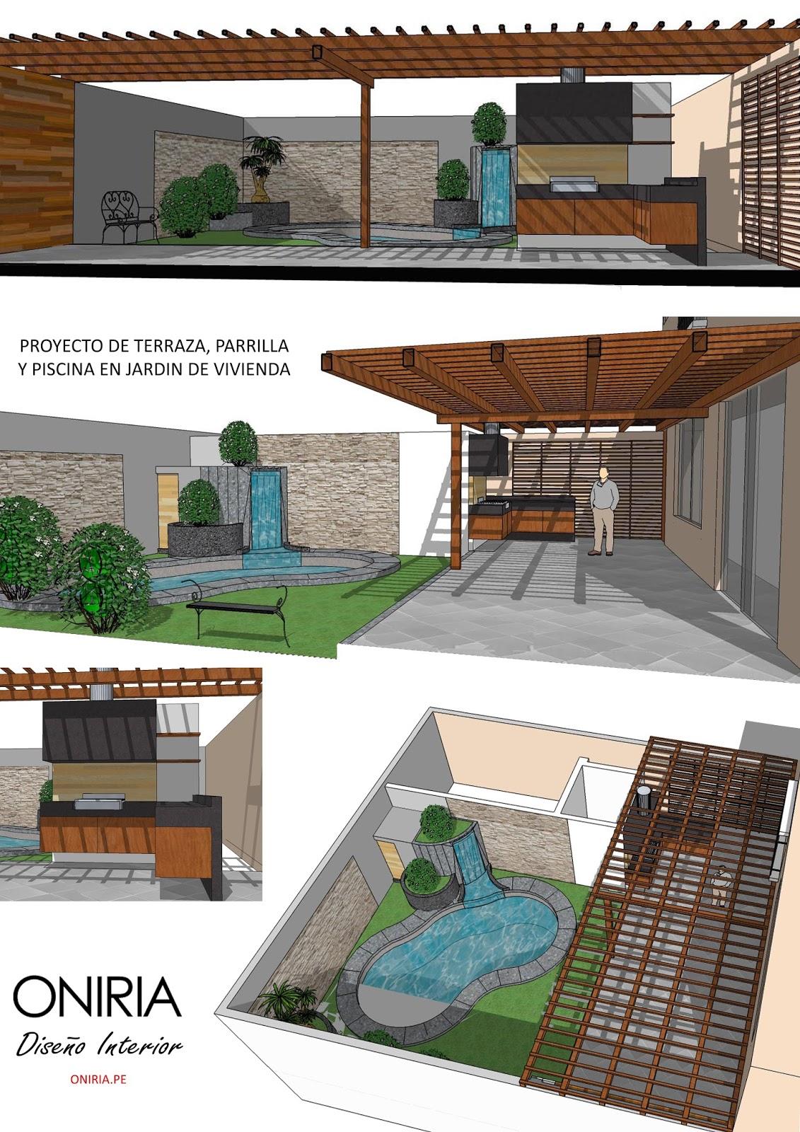 Oniria dise o y ejecuci n de terrazas y parrillas for Terrazas y piscinas