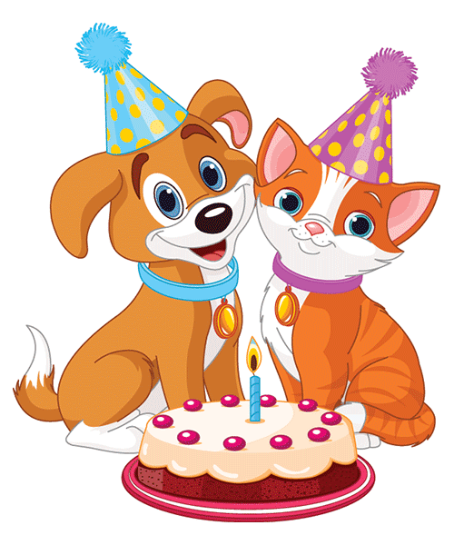 Dog Cat Birthday Image