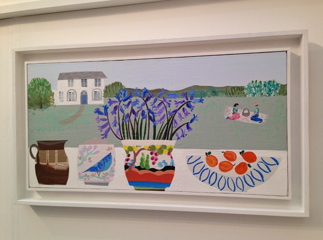 Emma Williams bluebell painting at the affordable art fair June 2014