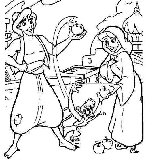 Dibujos disney para colorear: Dibujos de aladino y la lampara ...