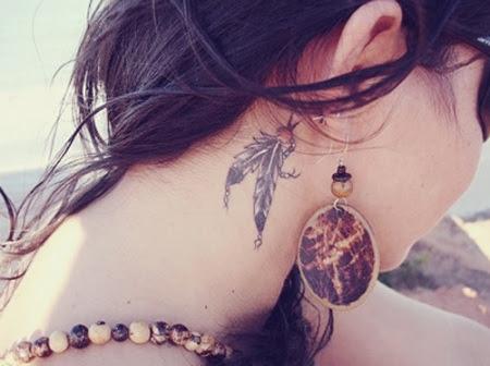 Dreamcatcher Neck Tattoos
