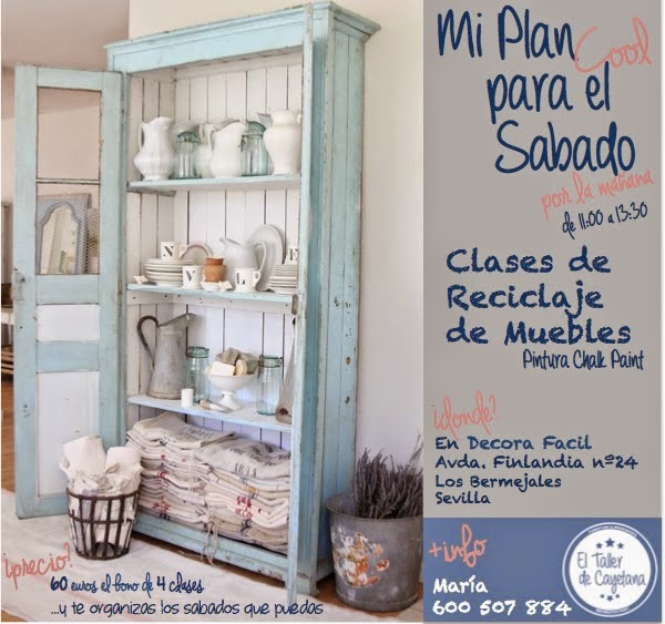 El taller de cayetana clases de restauracion yreciclaje for Cursos de restauracion de muebles en madrid