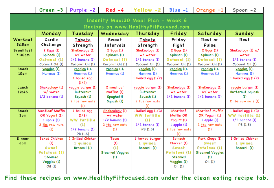 21 Day Fix Meal Plan 2300 Calories Healthy, fit, and focused: january ...