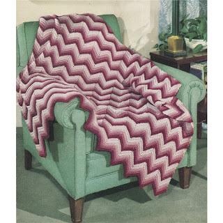 Vintage Ripple Afghan Crochet Pattern