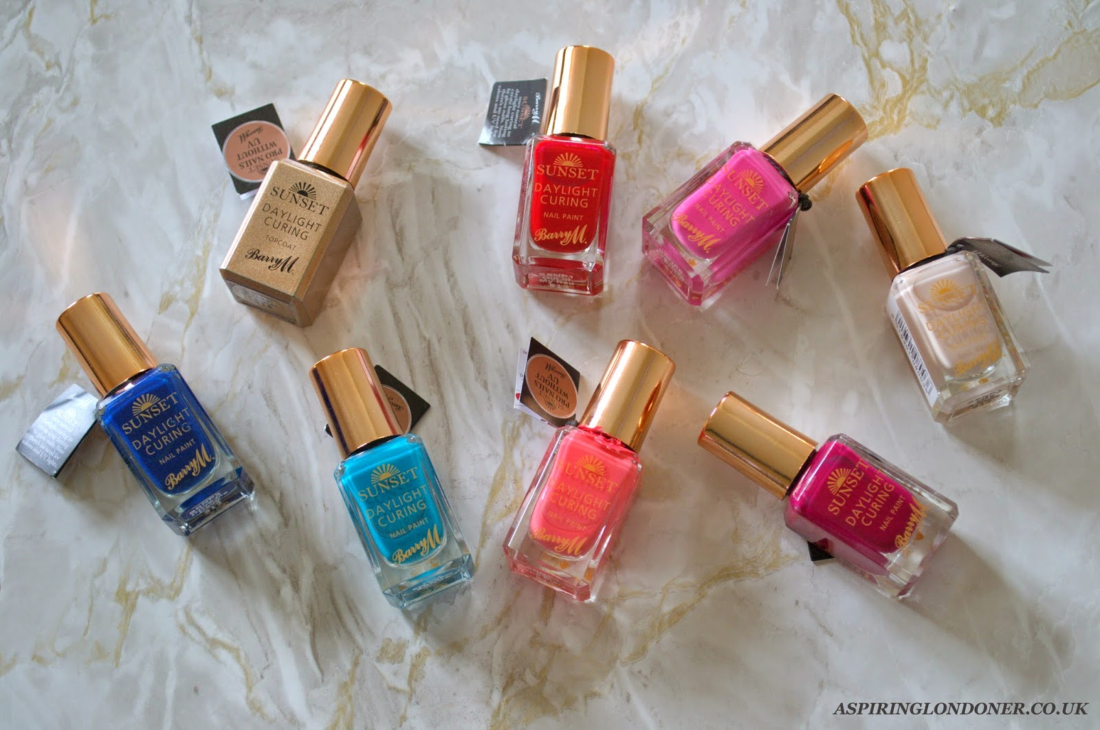 Barry M Sunset Daylight Curing Nail Polish Review - Aspiring Londoner