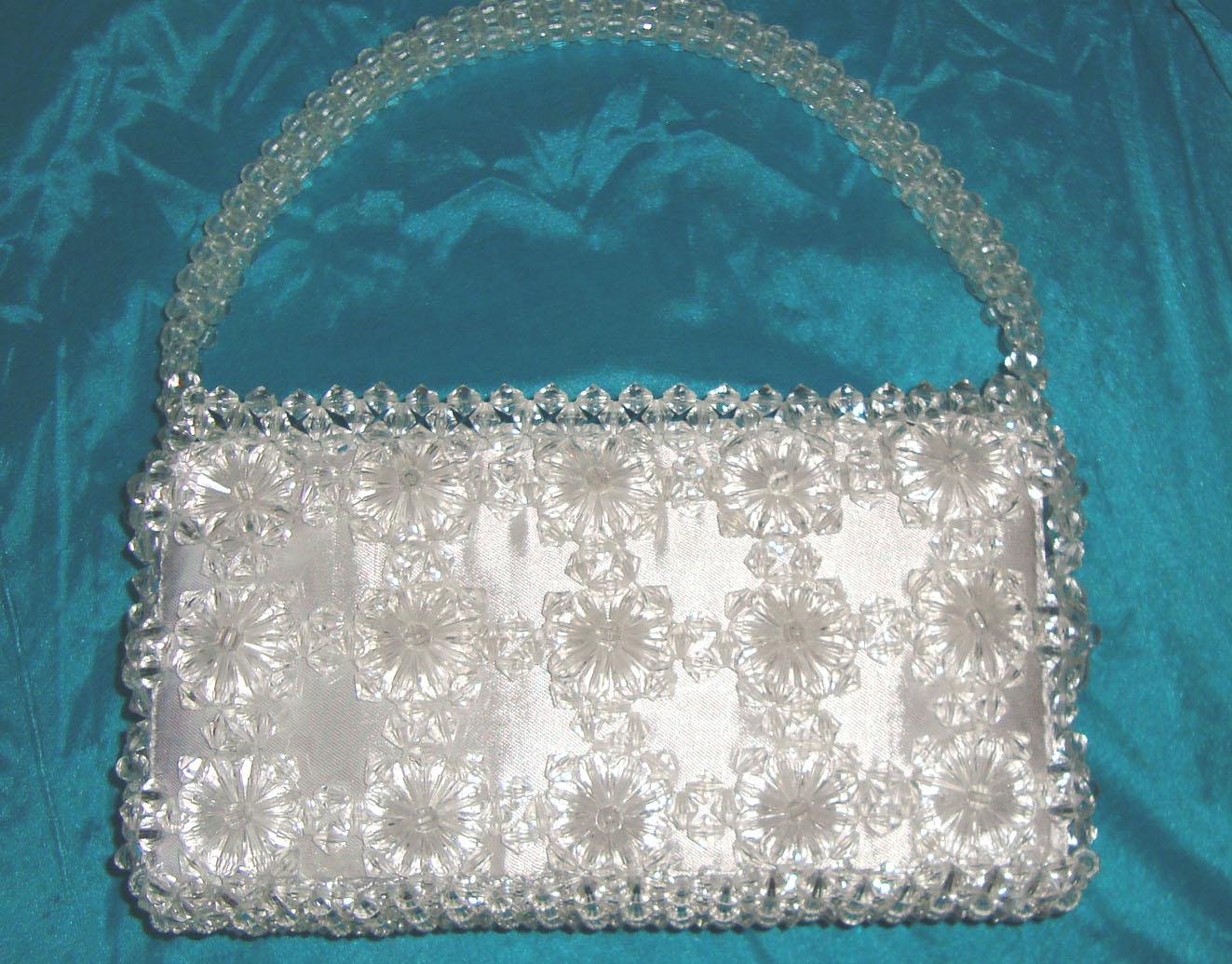 Beaded bags pratibha art craft for How to make designer bags at home