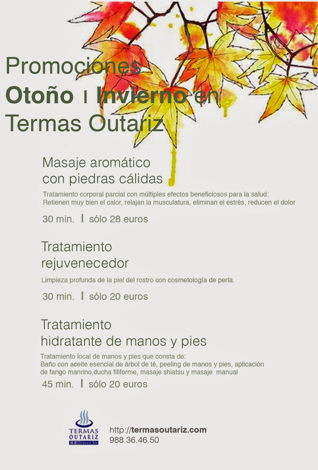 Promociones otoño en Termas Outariz, Ourense