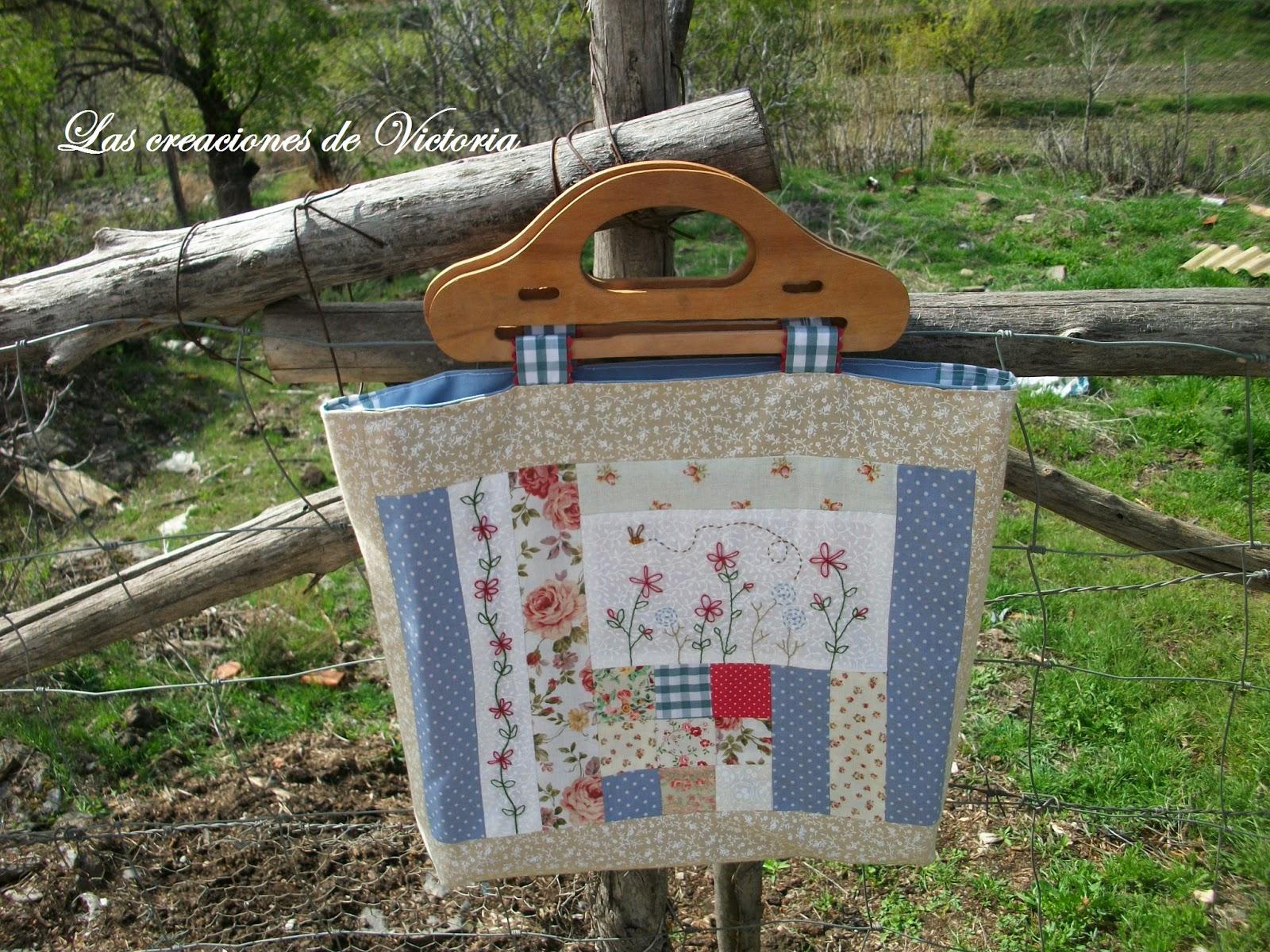 Las creaciones de Victoria. Bolso patchwork.Costura