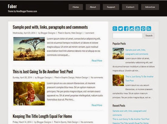 Faber Blogger Template