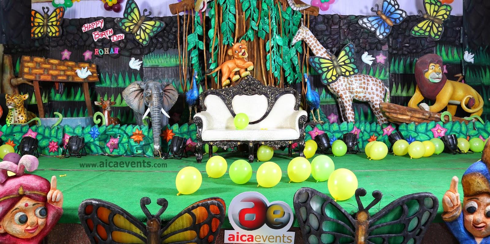 Jungle Decoration Birthday Decorations Jungle Theme Cake Ideas And Birthday