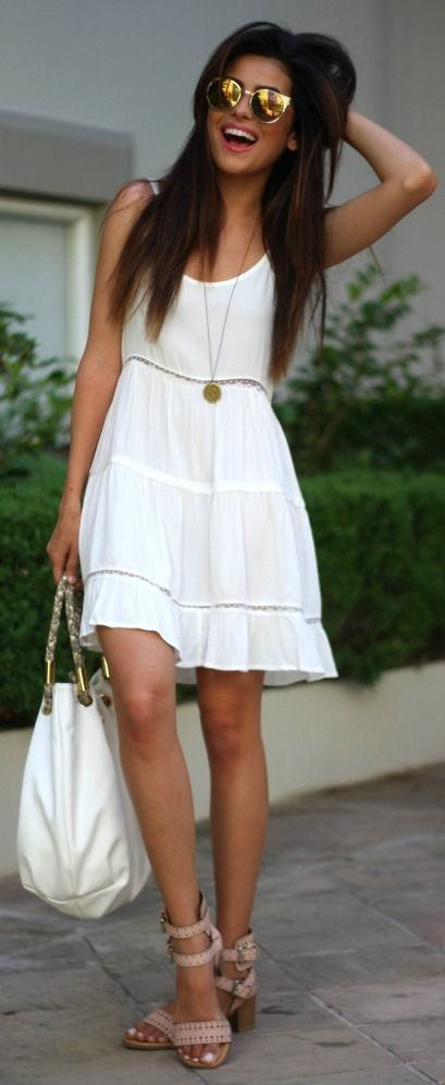 White Boho Summer Fashion