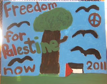 Painting 'Freedom for Palestine' {click pic}