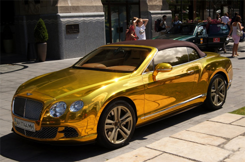 Best Car Gold Plated Bentley Continental Gtc In Budapest