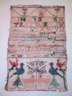 Light damage to textile, historic embroidery and samplers, art conservation