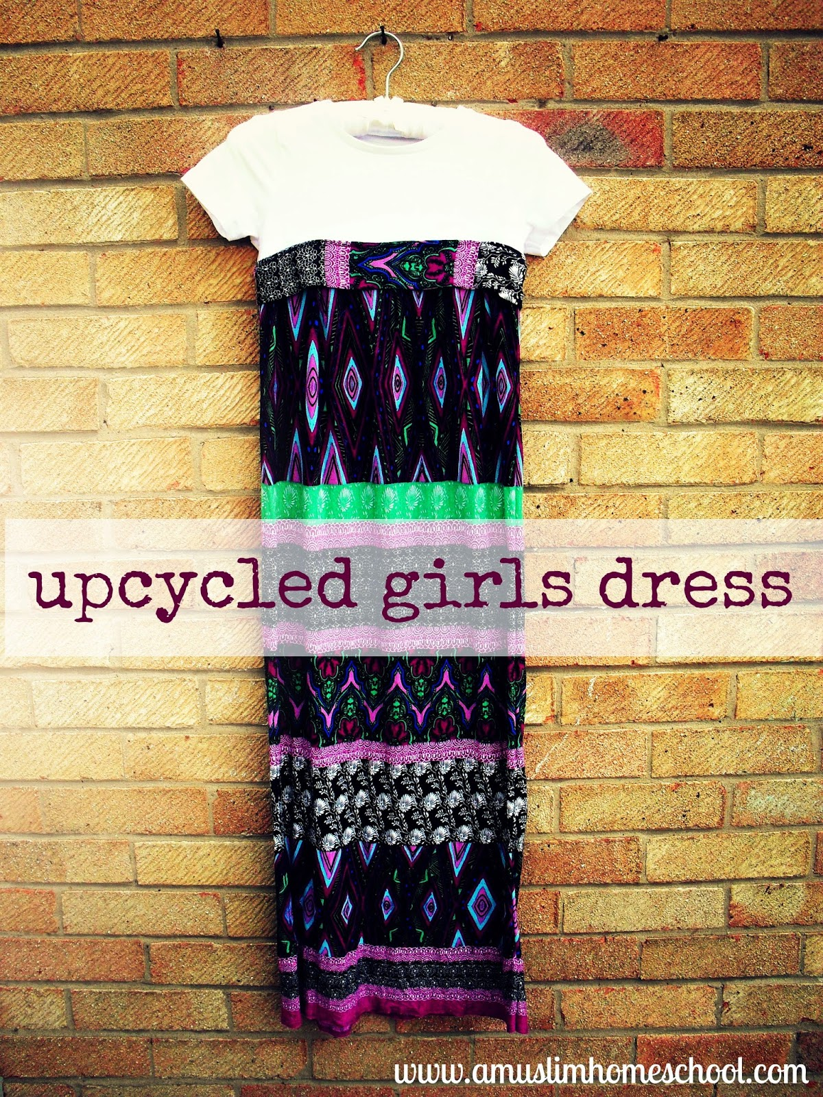 upcycled girls t-shirt dress