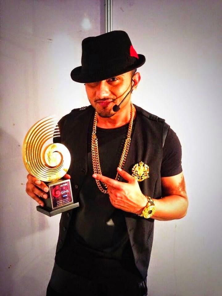 Yo Yo Honey Singh Won GIMA Awards