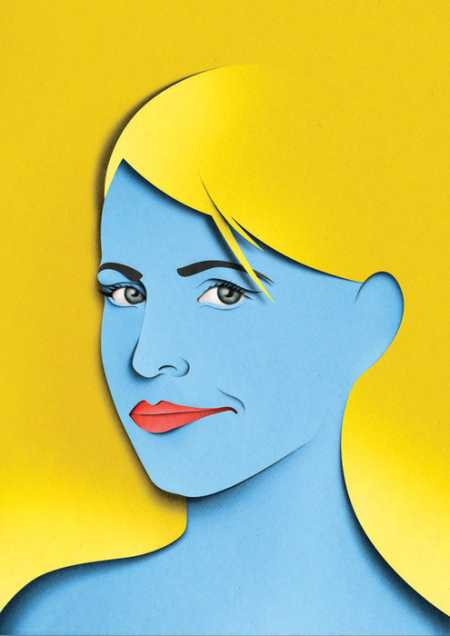 eiko ojala ilustração cortes de papel Retratos