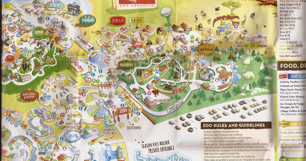 Zoo Tails Columbus Zoo Map 2015
