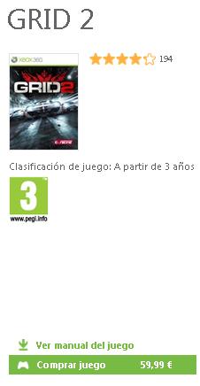 Grid 2 disponible en el Bazar de Xbox Live