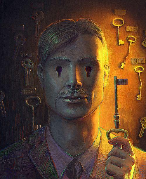 Andrew Ferez 25kartinok deviantart ilustrações sombrias surreais Chaves e fechaduras