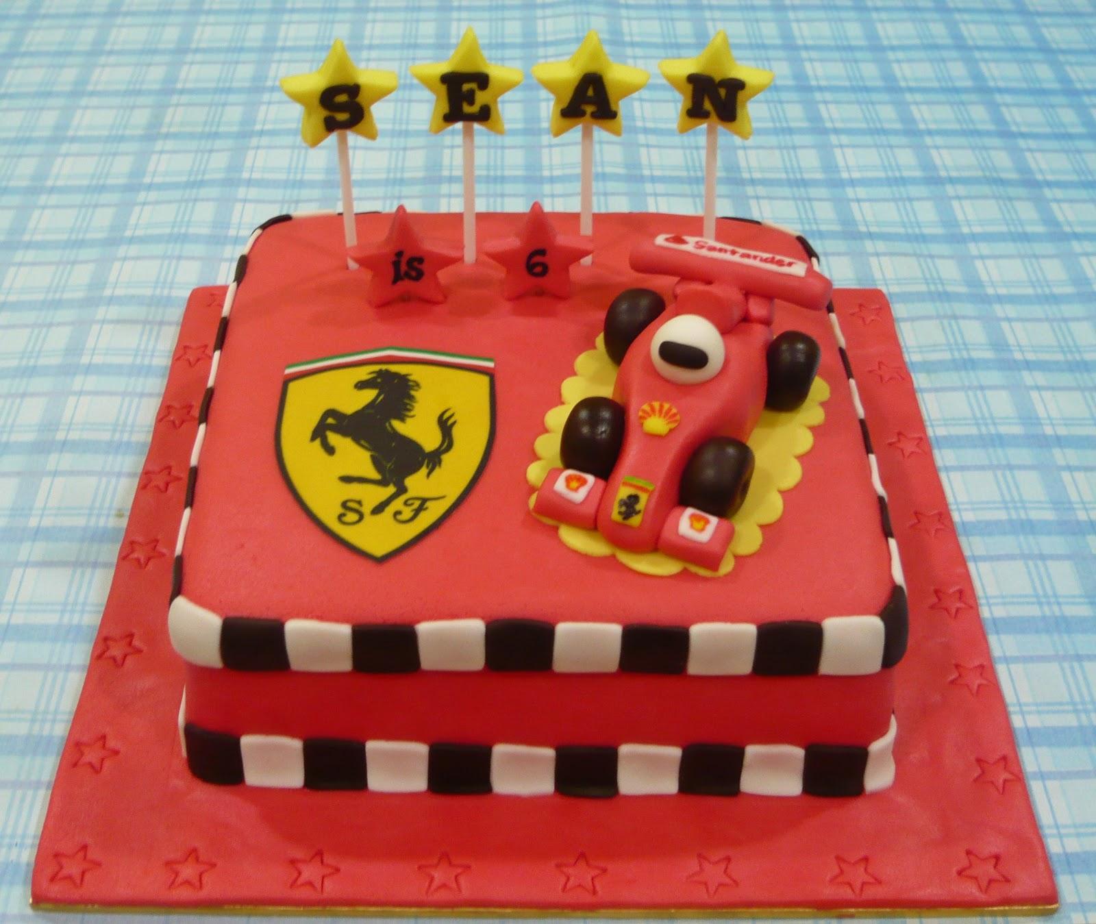 Jenn Cupcakes Muffins Ferrari Theme Cake
