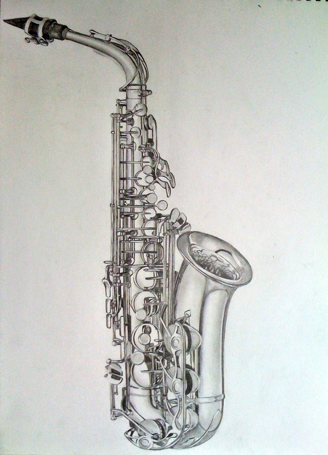 Etapes saxophone dessins de lena - Dessin saxophone ...
