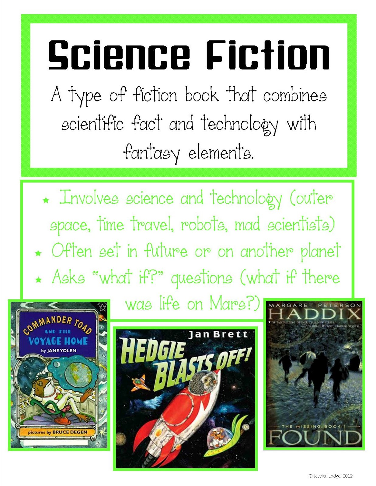 Genre Posters - Mrs Lodge's Library