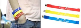 Flashdisk unik berbentuk gelang warna-warni