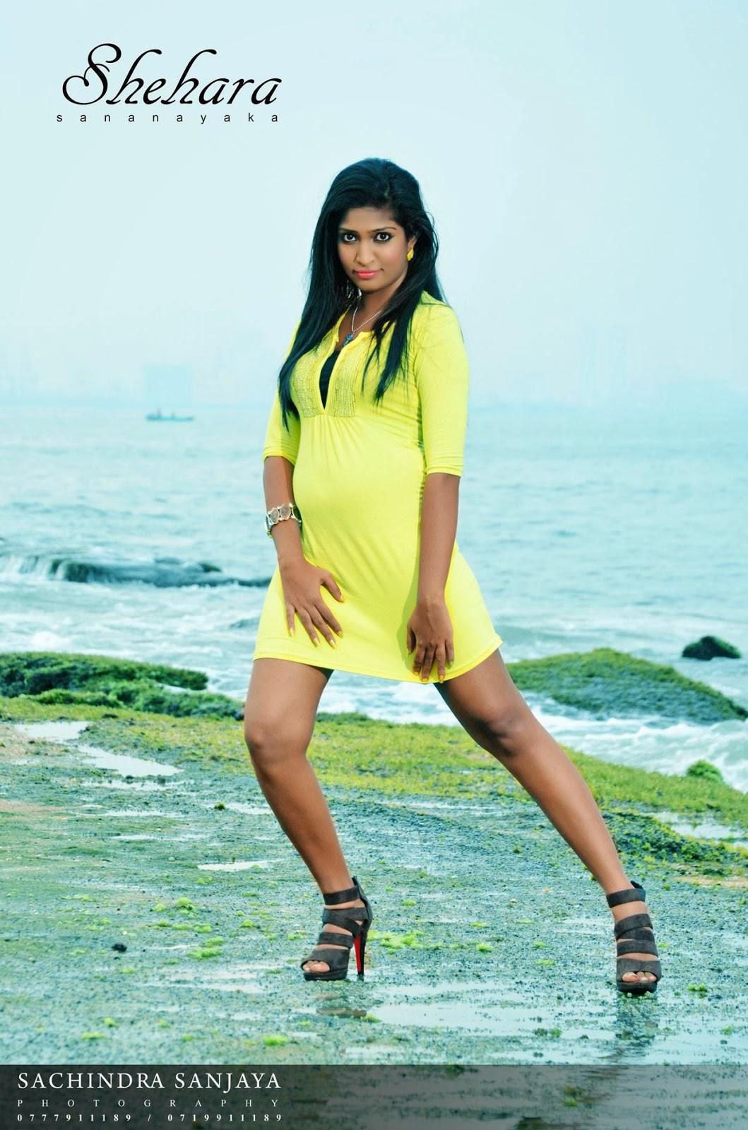 Shehara Sananayaka hot beach legs