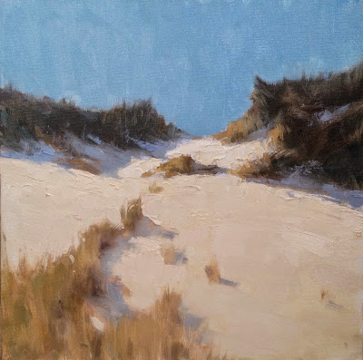 Painting a Day, Impressionist oil landscape of the dunes on Cape Cod by artist Steve Allrich.
