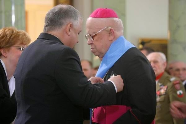 Bp Ignacy Tokarczuk i prezydent Lech Kaczyński