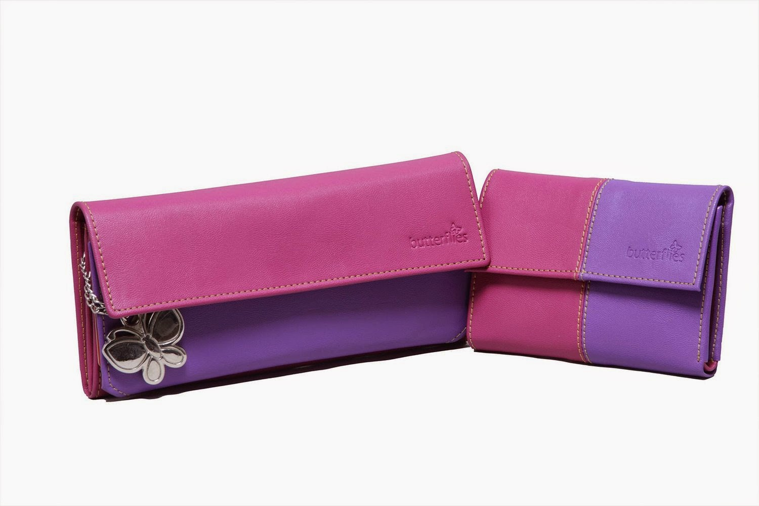 Butterflies Combo Wallet (Pink and Purple) for Rs 399