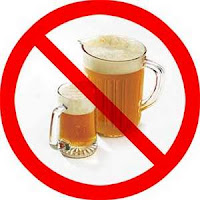 No to alcohol, ban alcohol, no alcohol