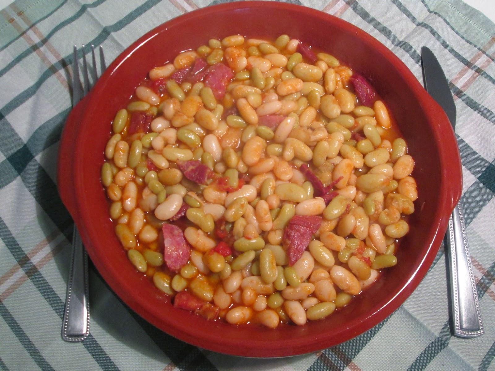 Cocinar no es dif cil pru balo alubias tiernas con for Cocinar habas con jamon