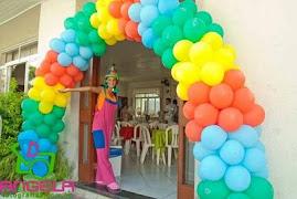 recepcionando sua festa com alegria