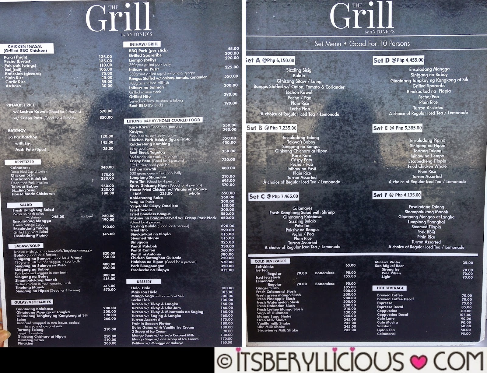 The Grill By Antonios Filipino Cuisine Overlooking Taal